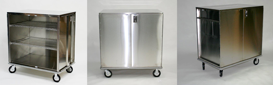 Closed Case Cart Stainless Steel for Hospital