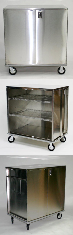 closed case cart stainless steel scc432756-2w