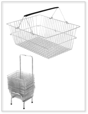 Stackable and robust hand basket